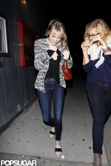 Emma Stone goofed around with a gal pal.