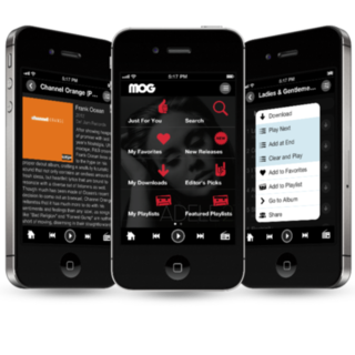 Music Streaming App MOG