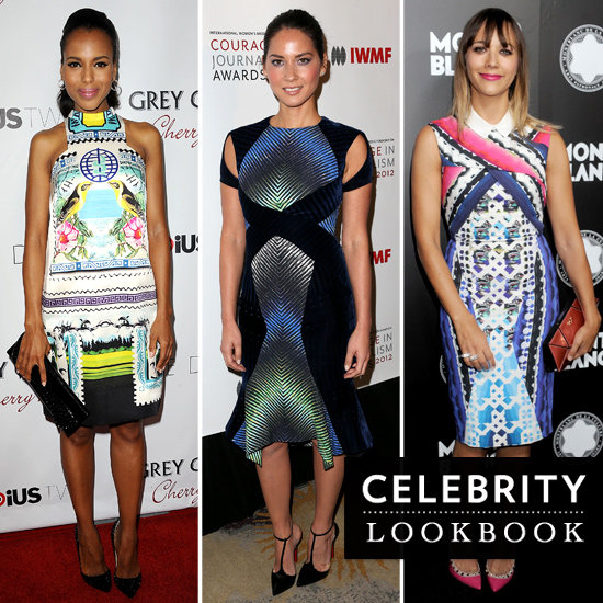 Celebrities Wearing Digital Print Dresses 2012