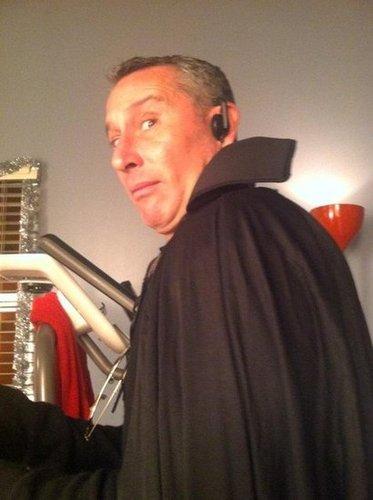 Glee's Jane Lynch snapped a photo of Adam Shankman in costume. Source: Twitter user janemarielynch