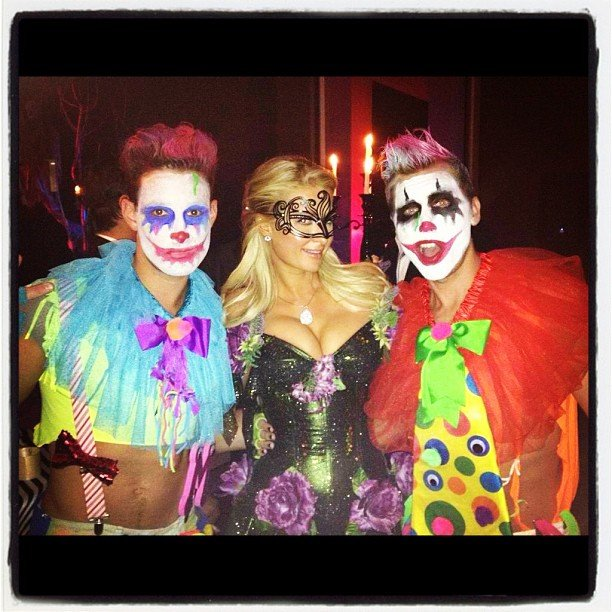 Lance Bass ran into Paris Hilton at a Halloween bash. Source: Instagram user lancebass