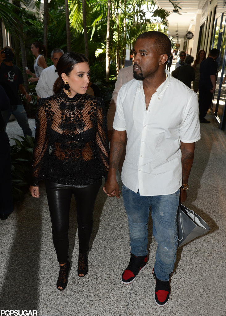 Kim Kardashian and Kanye West had a date in Miami.