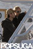 Enrique Iglesias and Anna Kournikova both wore sunglasses as they boated around Miami Beach.