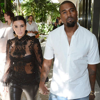 Kim Kardashian in See-Through Top With Kanye West | Pictures