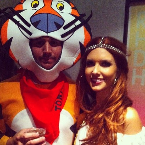 Audrina Patridge cuddled up to Tony the Tiger.  Source: Instagram user audrinapatridge