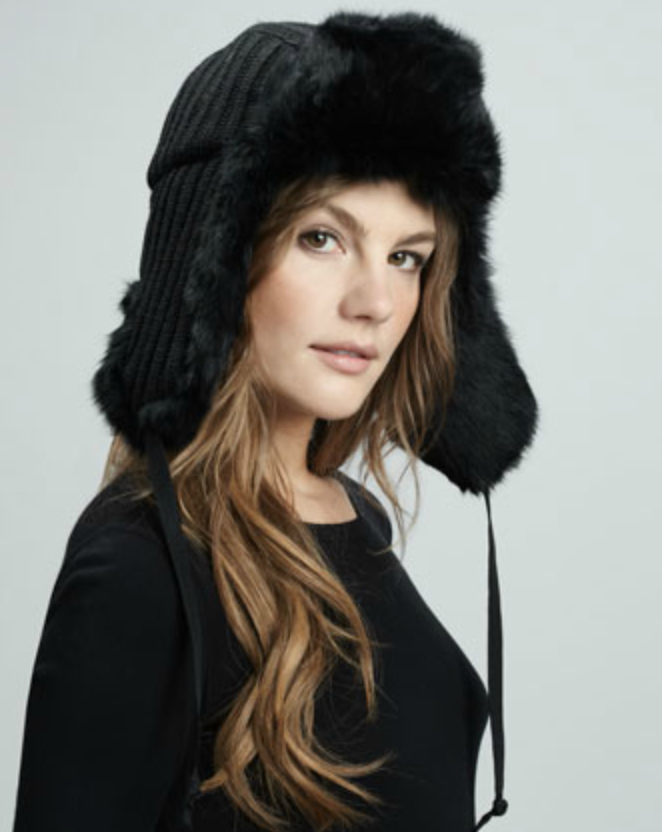 For those extrafrigid days, keep your head protected in this sleek Hat Attack Fur Lined Trapper Hat ($96).