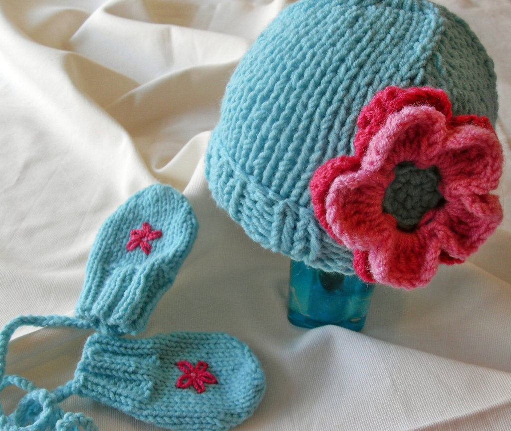 Candy Dress Shop Baby Hat and Mittens