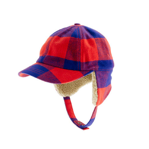 J.Crew Buffalo Check Trapper Hat