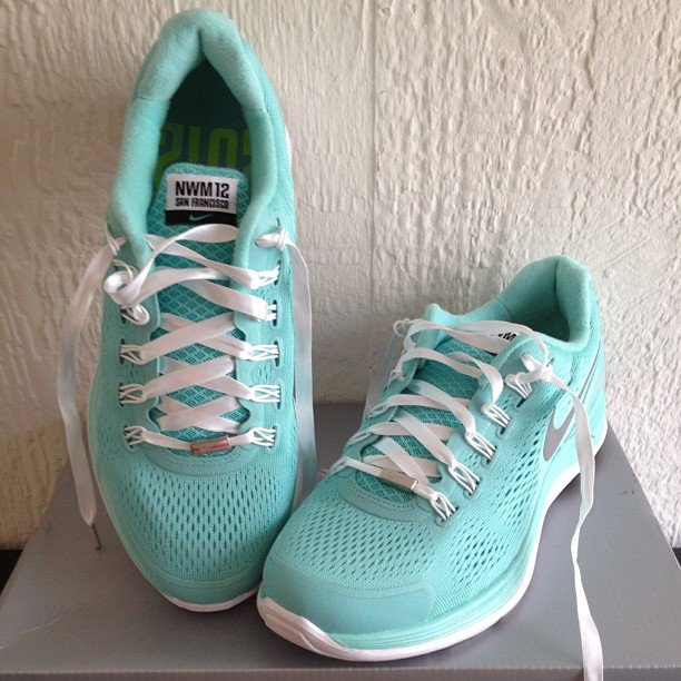 We can't help but love these special edition sneaks from the Nike Women's Marathon. Source: Instagram user alzamany