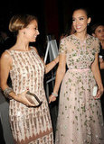 Nicole Richie and Jessica Alba had a laugh together.