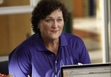 Coach Beiste (Dot-Marie Jones) turns the tables on Emma and gives her some advice.