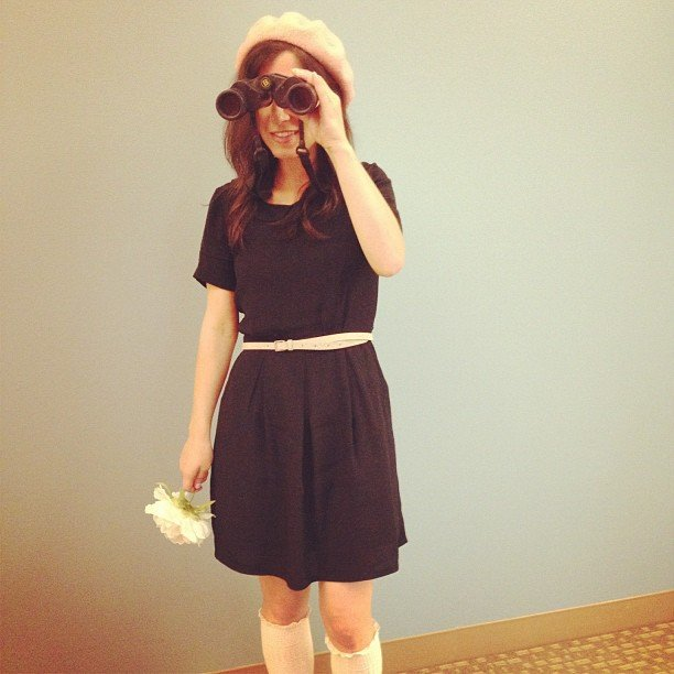 Managing editor Angelica grabbed her binoculars to be Moonrise Kingdom's Suzy Bishop.