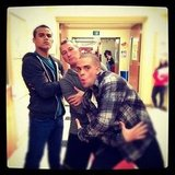 Adam Shankman posed with Glee stars Jacob Artist and Mark Salling. Source: Instagram user adamshankman