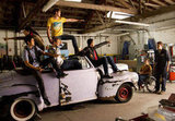 "The boys rework the classic ""Greased Lightning"" garage scene in ""Glease,"" airing Nov. 15."