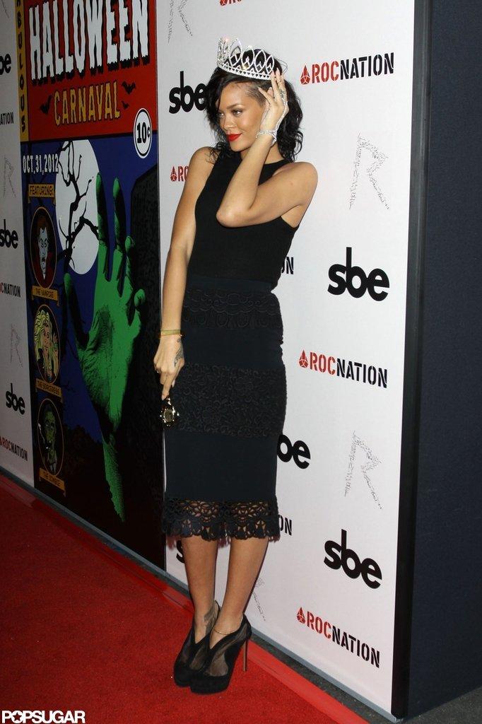 Rihanna struck a pose at the party.