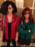 Katy Perry dressed as Jane from the cult-classic cartoon Daria. Source: Twitter user KatyPerry