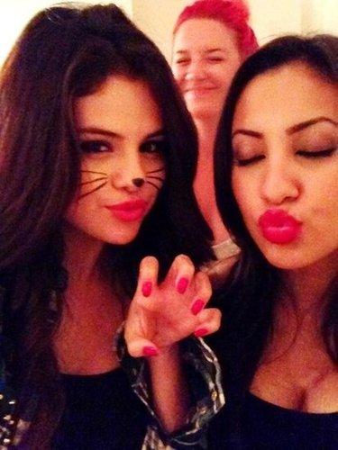 Selena Gomez got into character on Halloween. Source: Twitter user selenagomez