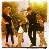 LeAnn Rimes and Eddie Cibrian went as Sandy and Danny from Grease. Source: Twitter user leannrimes