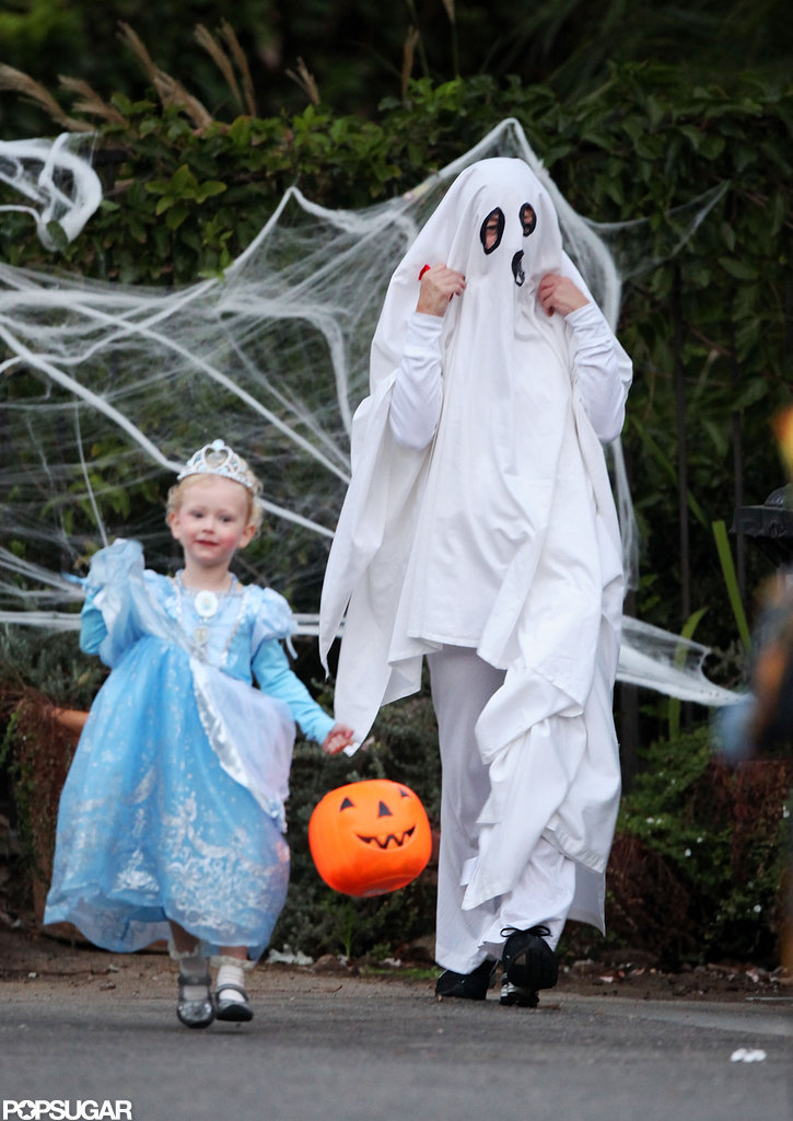 Rebecca Gayheart took her daughter Billie out on Halloween in LA.