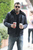Ben Affleck stopped at Starbucks.