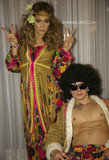 Jennifer Lopez and Casper Smart wore hippie gear.  Source: JenniferLopez.com