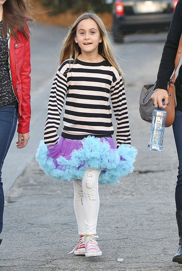 Coco Arquette sported a purple and blue tutu.