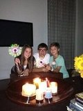 Kelly Ripa's kids lit up their home after they lost electricity from Hurricane Sandy. Source: Twitter user KellyRipa