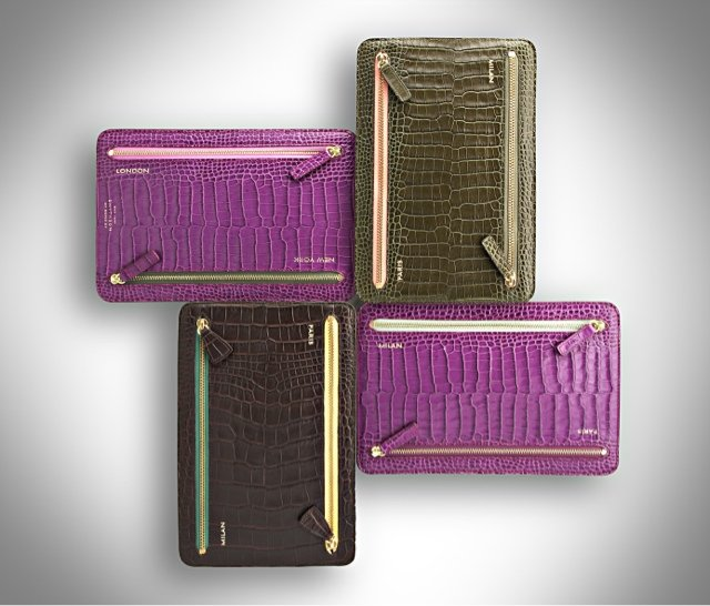 Smythson Multi-Zip Mara Currency Case