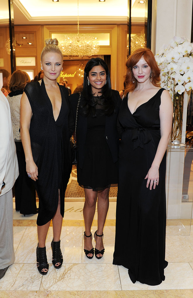 Malin Akerman, Prerna Balani, and Christina Hendricks