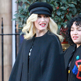 Gwen Stefani Wearing Black and White in London
