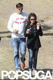 Mila Kunis and Ashton Kutcher stepped out in Sydney.