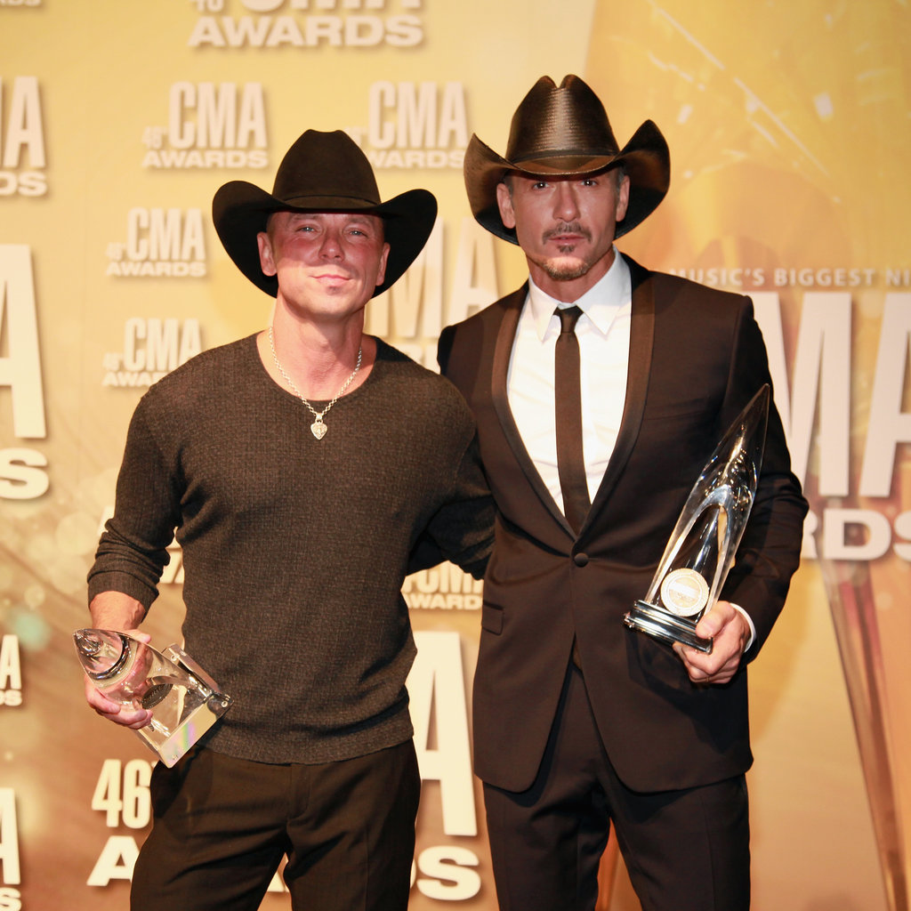 Kenny Chesney and Tim McGraw were in Nashville for the Country Music Association Awards.