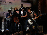Willie Nelson, Tim McGraw and Keith Urban appeared on stage together at the Country Music Association Awards in Nashville.