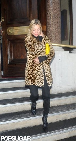 Kate Moss left The Wolseley.