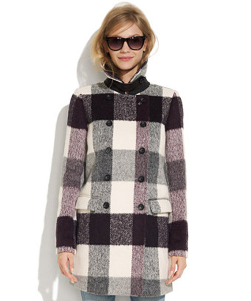 Pair this Madewell Buffalo Plaid Coat ($288) with a pencil skirt and tights for a classic, feminine feel.