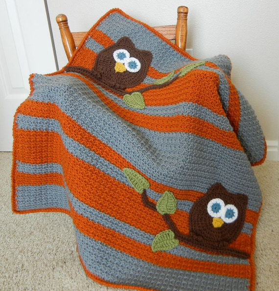 Abby Cove Owl Baby Blanket