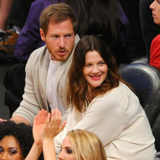 Drew Barrymore and Will Kopelman at LA Lakers Game Pictures