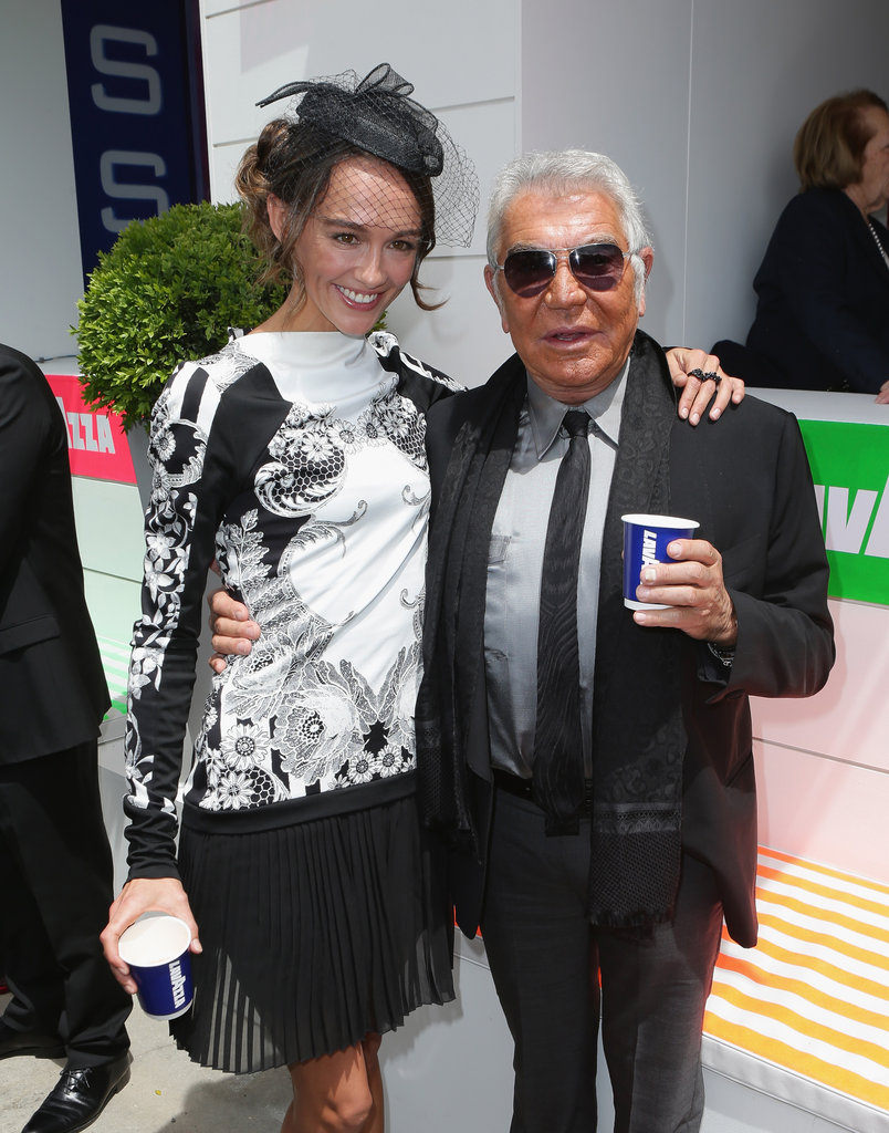 Sharni Vinson and Roberto Cavalli.