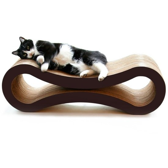 When your cat gets tired from all that scratching, he can lay right down on this scratcher-lounge combo ($100) that's made of eco-friendly, recyclable corrugated cardboard. The sleek design is also stylish enough to fit right in with your home decor.