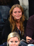 Mary-Kate Olsen cheered at the New York Knicks game.