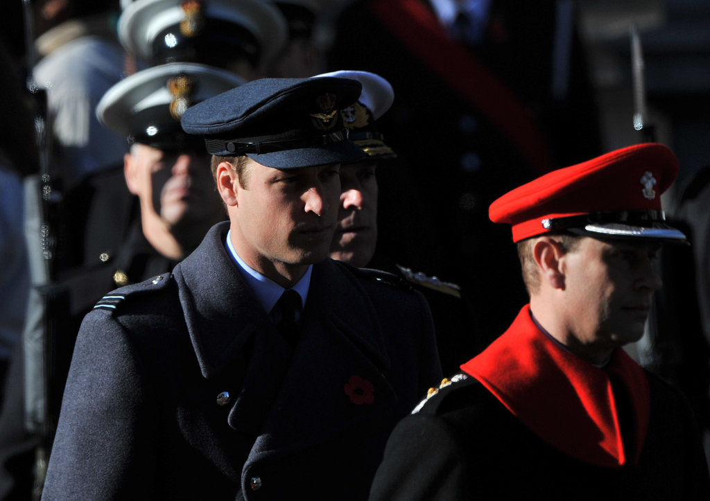 Prince William attended the Remembrance Sunday parade.