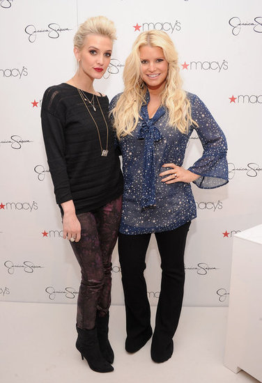 Jessica Simpson and Ashlee Simpson showed off the Jessica Simpson Collection at the South Coast Plaza Macy's.