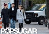 Jessica Biel walked around NYC with friends.