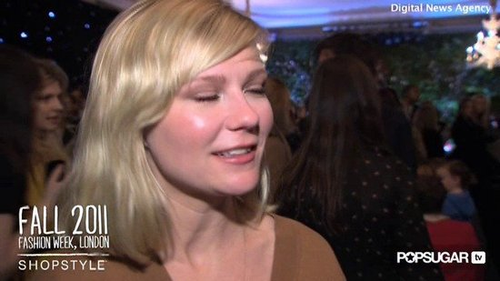 Kirsten Dunst on Personal Style and Favorite Pieces Backstage at Mulberry