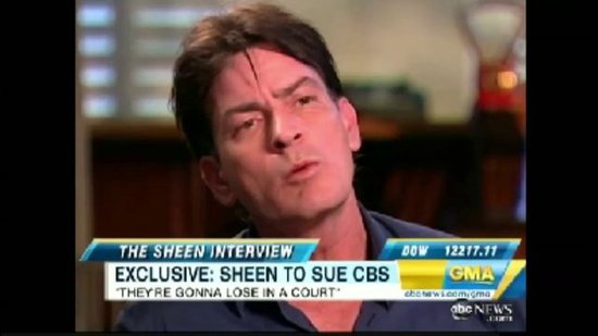 Charlie Sheen Discusses Suing CBS on Good Morning America