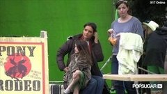 Video: Suri Cruise's Wild Day on Set With Katie Holmes