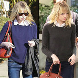 Emma Stone Makes a Strong Case For the Sweater + Blouse Set