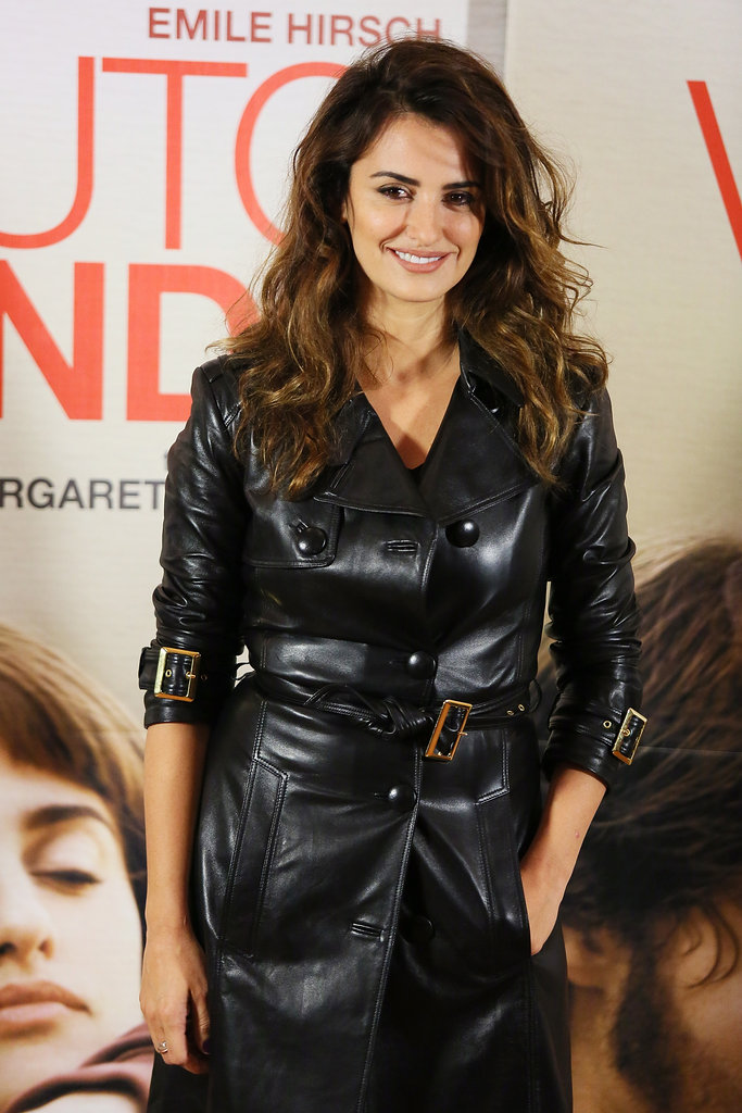 Penélope Cruz Goes Black and Blue For Press in Rome