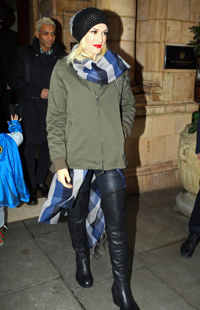 Gwen Stefani left her hotel in London to do a performance on The X Factor.
