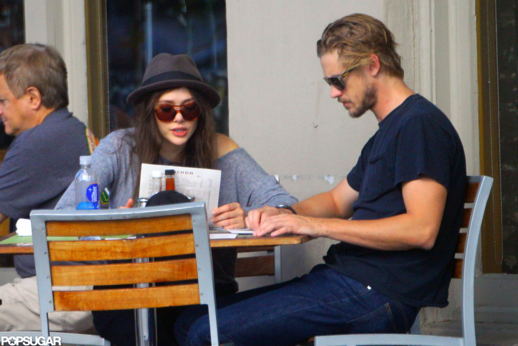 Elizabeth Olsen had lunch with Boyd Holbrook in New Orleans.